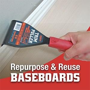 Repurpose & Reuse Baseboards